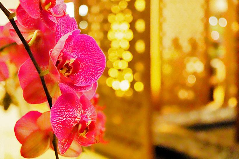 ホテル内にはエッセンシャルオイルの香りが漂い南国の花が散りばめられている